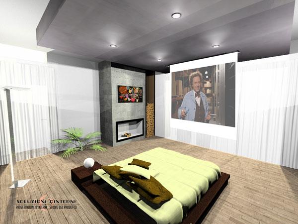 Camera Vista Laterale Con Tv Videoproiettore Www Soluzioni Interni Com
